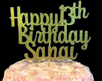 Happy Birthday cake topper, Birthday Cake Topper, Birthday Decorations, Personalized Birthday Decorations, Cake toppers, decor, decorations