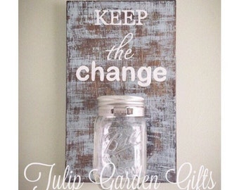 Keep The Change Laundry Room Change Jar, Tip Jar, Laundry Tips, Coin Jar, Piggy Bank, Laundry Money, Change Jar