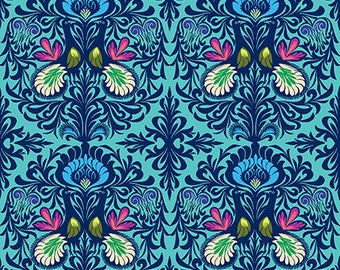 Pre-order: It Takes Two in Aqua by Amy Butler from the Soul Mate collection for Free Spirit #CPAB004.8AQUA by 1/2 yard