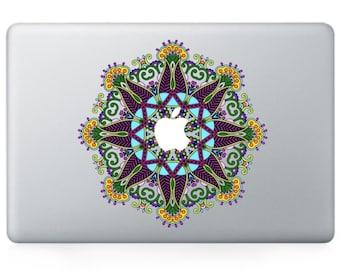 Macbook 13 inch decal sticker kaleidoscope and apple art for Apple Laptop