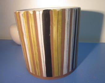 Roger Capron France studio art pottery plant pot planter stripes 50s mid-century