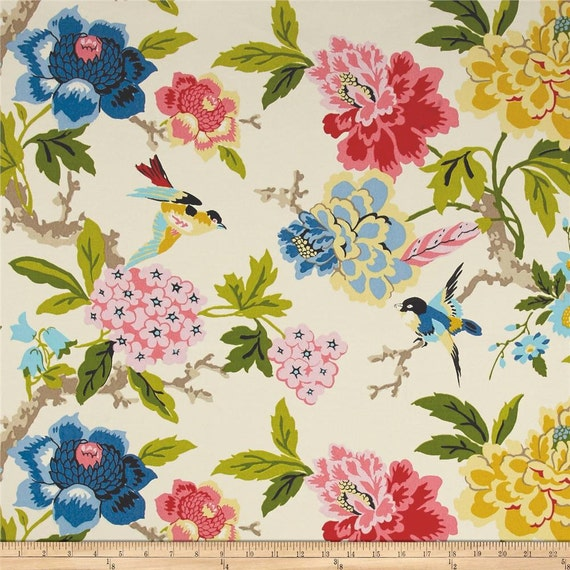 Waverly Candid Moment Gardenia Indoor/Outdoor Fabric, Pink Yellow ...