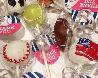 Sports ball cake pops