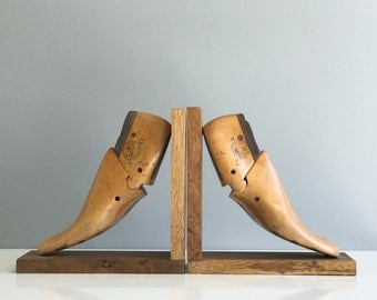 Antique Shoe Stretcher Bookends / Shoe Mould Bookends