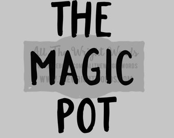 "FREE SHIPPING //  3.8x5"" The Magic Pot Vinyl Decal - Pressure Cooker Decal - Insta Pot - IP - Decal  - Cooking - Home - Kitchen"