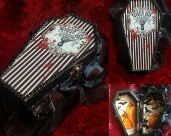 OCTOPUS SKIN Coffin Jewelry Box