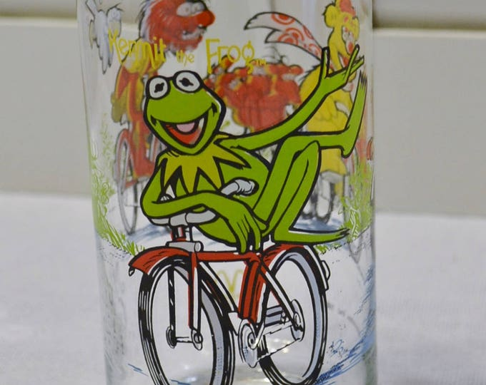 Vintage Muppets Tumbler McDonalds 1981 Kermit the Frog Fozzie Bear Animal Jim Henson Great Muppet Caper PanchosPorch