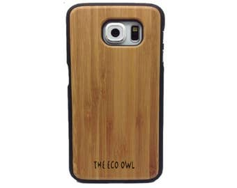 Samsung S6 Case -  Wood S6 case - Bamboo Wood case for Samsung S6 - Bamboo case