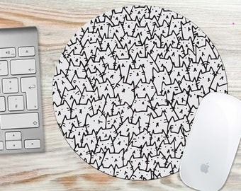 Because Cats Mouse Pad - Round or Rectangle 7006