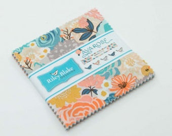 """Ava Rose Charm Pack by Deena Rutter for Riley Blake Designs, 42 - 5"""" squares"""
