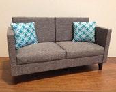RESERVED-Grey Modern Doll Sofa