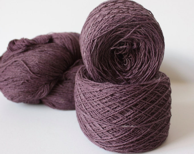 100% Hemp Yarn - Natural Dye - Col: 009 Lac with Iron - Grape