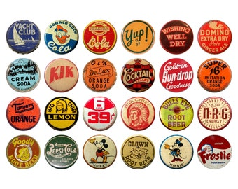 Vintage Soda Pop  Bottle Cap Kitchen Cabinet Drawer Knobs Pulls