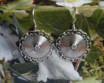Silver 925 round EARRINGS sterling silver handcrafted jewelry