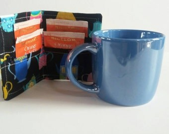 Tea Wallet, Tea Bag Wallet, Tea Bag Holder, Tea Bag Storage, Tea Bag Caddy, Travel Tea Bag Holder, Tea Cups