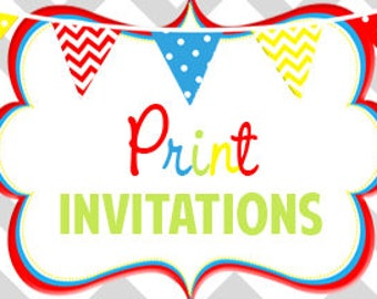 Have your invitation printed | 5x7 | Envelopes Included