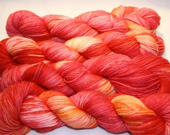 Superwash Hand Dyed Sock Yarn:  Star Burst