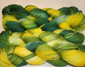 Superwash Hand Dyed Sock Yarn:  Luck of the Irish