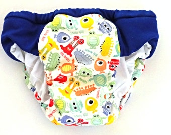 Boys potty training pants with hidden waterproof layer. Eco friendly reusable overnight pull ups, Jungle print, waterproof trainers