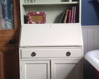Painted bureau cupboard with shelve so