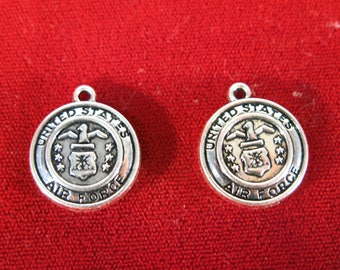 """5pc """"Air Force"""" charms in antique silver style (BC1236)"""