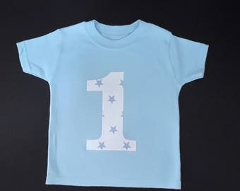1st first Birthday boy t-shirt, Birthday top, Birthday t shirt. Boys birthday number shirt, 1st birthday top, number t-shirt, boys birthday