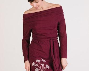 SALE! Queen Anne's Lace Organic Cowl Neck Dress