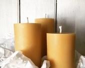 Three Pillar Series | Pure Beeswax Candles | l'essence