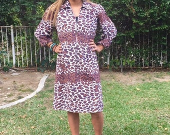 Leopard print dress, large, soft dress