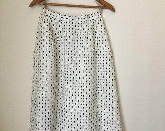 Black & White Midi Skirt