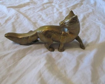 Brass Fox Figurine