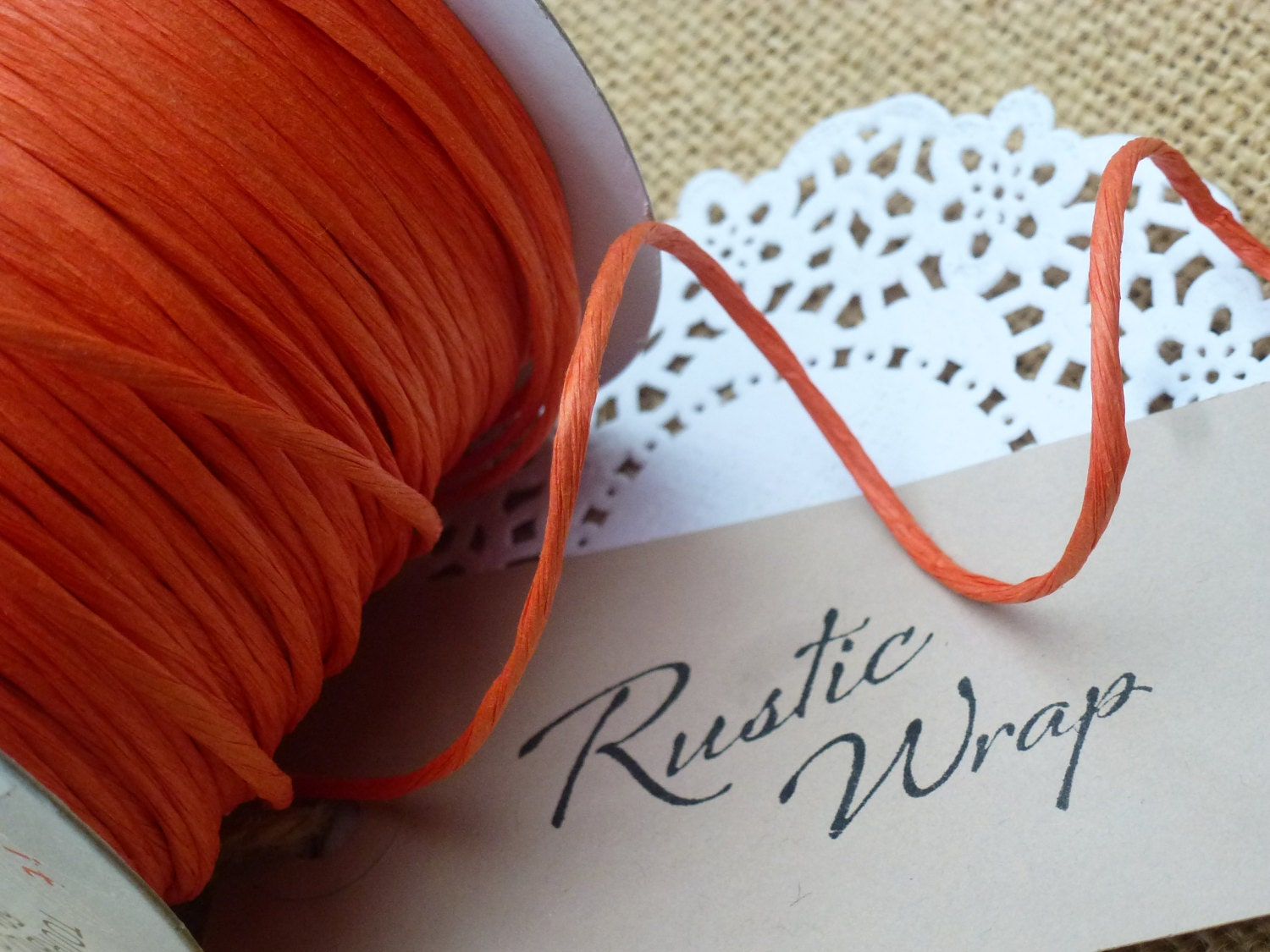 Paper covered craft wire - 8m Orange Paper Covered Craft Florist Wire 2mm