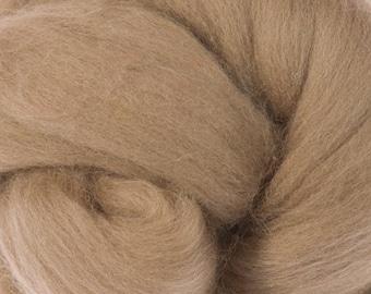 Merino Wool Roving / Combed Top / Wool Braid in Earth (DHG)  - 4 ounces Superfine Merino