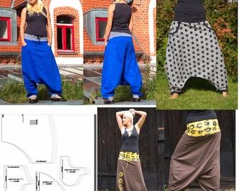 ebook yoga harem pants pattern drop crotch diy make yourself
