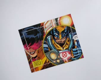 CLEARANCE SALE - Xmen jubilee jean grey wolverine cyclops- Comic Book Upcycled laminate Wallet