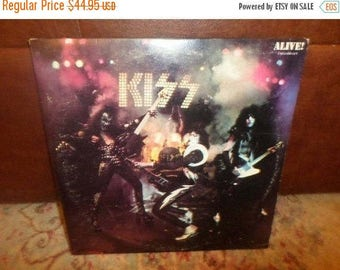 Save 30% Today Vintage LP Record KISS Alive Two Record Set Excellent Condition with Original Book 5017