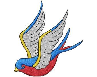 Tattoo Bird Embroidery Design