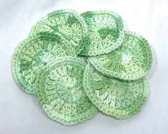 Cotton Face Scrubbie Set of 6 - Aloe Vera