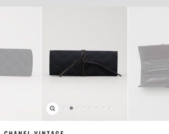 CHANEL - final sale from 350! Cosmetic, Accessories, Jewelry Trifold Case Bag Organizer Wallet. Rare and one of a kind.