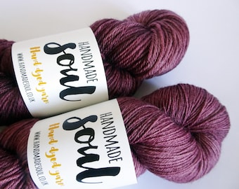 4ply, 4ply yarn, double knit yarn, dk yarn, handdyed in the UK with acid dyes, superwash wool and nylon. superwash polwarth