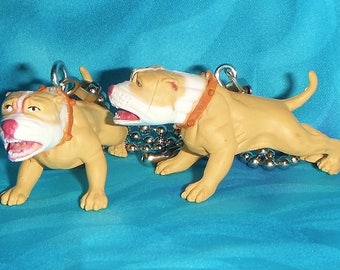 Set of Two ~ American Pitbull Terrier Dog - Ceiling Fan Pull Chains