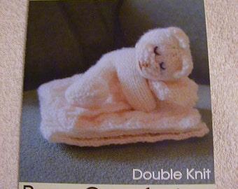 Bear Comforter Knitting Pattern In DK