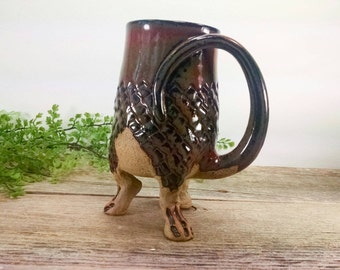 Dragon Creature Cup 20 oz - Unique Pottery Mugs - Dragon Gift Ideas - Large Mug for Coffee - Geeky Valentine Gift - Mesiree Ceramics