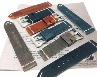Panerai strap, leather watch strap,panerai,panerai watch strap,Black,Brown,Turquoise,Gray,vintage,Leather Strap,Special,Sale