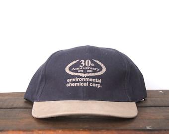 Vintage 90's Environmental Chemical Company 30th Anniversary Strapback Hat Baseball Cap