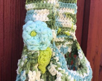 Two Crocheted Market Bags