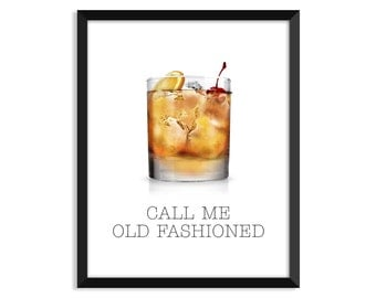 Call Me Old Fashioned, Funny Humor Print, Watercolor Print, Adult print, home decor, Gifts for her, wall art, digital print, minimal