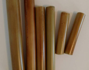 Bamboo Massage Therapy Stick Set-Warm Or Cold Therapy-100% Natural Organic Bamboo Massage Tool-Massage Roller-6 pieces