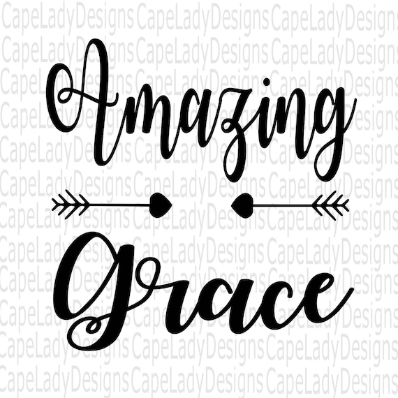 Amazing Svg: Amazing Grace Svg Christian Vector File Easter Svg Amazing