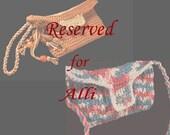 Reserved for Alli  Handbag and Wristlet